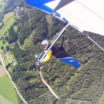 Right turn above Pogusch in Austria