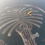 On my Back above the Palm Jumeirah